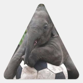 Elephant Soccer Triangle Sticker