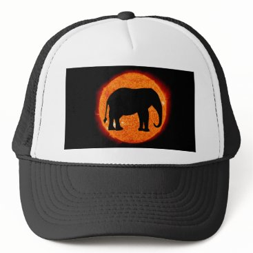Halloween Themed Elephant Solar Eclipse Trucker Hat