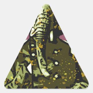 elephant soldier triangle sticker