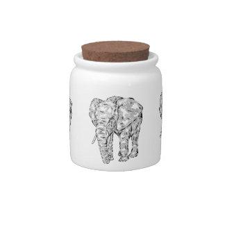"""Elephant Spirit"" v.1 - surreal totem animal Candy Jar"
