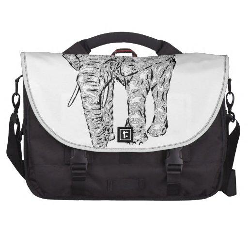 """""""Elephant Spirit"""" v.1 - surreal totem animal Laptop Computer Bag"""