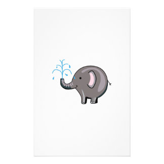 ELEPHANT SPRAYING WATER STATIONERY PAPER