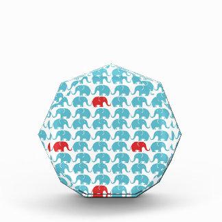 elephant square pattern acrylic award