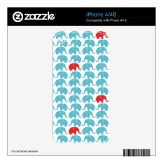 elephant square pattern skin for iPhone 4S