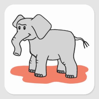 Elephant Square Sticker