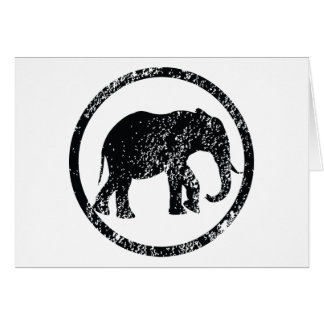 Elephant Stamp Greeting Cards