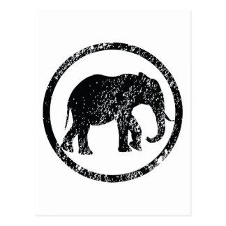 Elephant Stamp Postcard