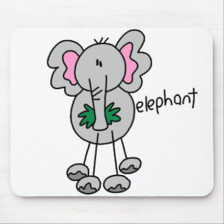 Elephant Stick Figure Mousepad