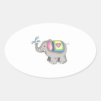 ELEPHANT OVAL STICKER