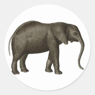 Elephant Round Stickers