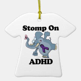Elephant Stomp On ADHD Double-Sided T-Shirt Ceramic Christmas Ornament