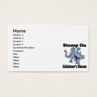 Elephant Stomp On Alzheimers Disease Business Card
