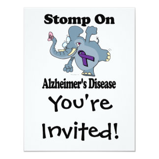 Elephant Stomp On Alzheimers Disease Card