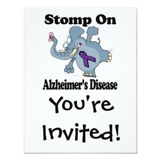 Elephant Stomp On Alzheimers Disease Card