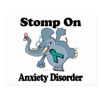 Elephant Stomp On Anxiety Disorder Postcard