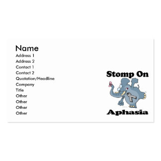 Elephant Stomp On Aphasia Business Card