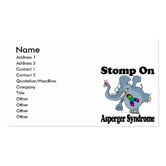 Elephant Stomp On Asperger Syndrome Business Card Templates