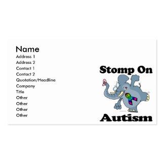 Elephant Stomp On Autism Awareness Design Business Card