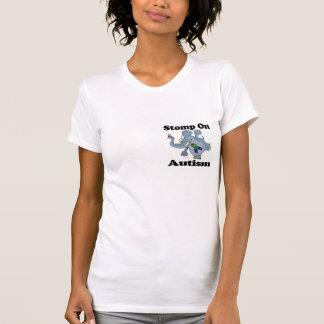 Elephant Stomp On Autism Awareness Design T-Shirt
