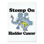 "Elephant Stomp On Bladder Cancer 5"" X 7"" Invitation Card"