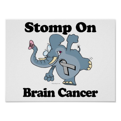 Elephant Stomp On Brain Cancer Posters