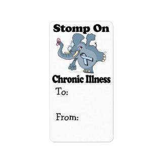 Elephant Stomp On Chronic Illness Label