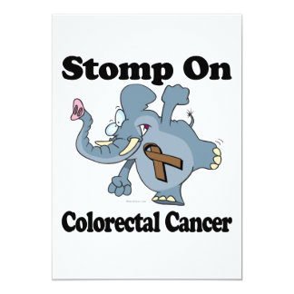 Elephant Stomp On Colorectal Cancer 5x7 Paper Invitation Card