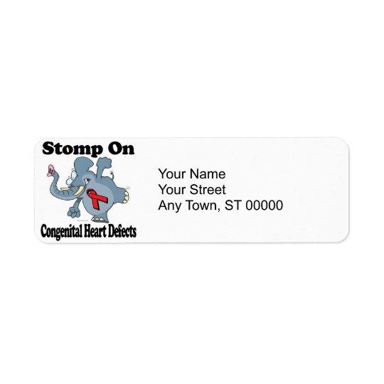 Elephant Stomp On Congenital Heart Defects Label