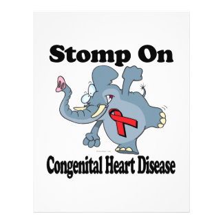"Elephant Stomp On Congenital Heart Disease 8.5"" X 11"" Flyer"