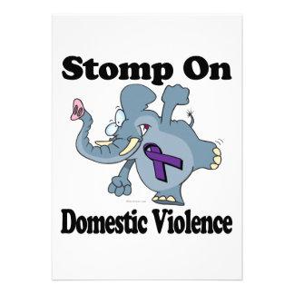 Elephant Stomp On Domestic Violence Invites
