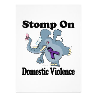 Elephant Stomp On Domestic Violence Personalized Announcement
