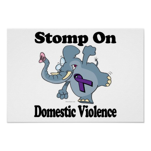 Elephant Stomp On Domestic Violence Poster