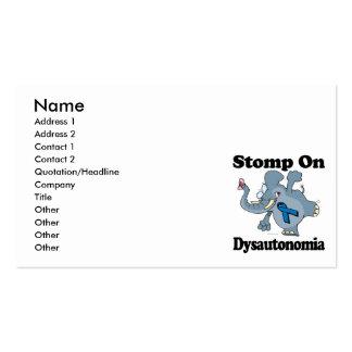 Elephant Stomp On Dysautonomia Business Card