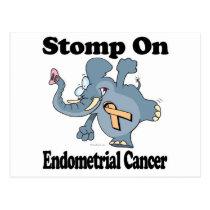 Elephant Stomp On Endometrial Cancer Postcard