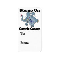 Elephant Stomp On Gastric Cancer Label