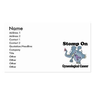 Elephant Stomp On Gynecological Cancer Business Card