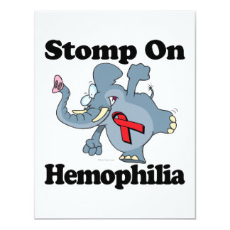 Elephant Stomp On Hemophilia 4.25x5.5 Paper Invitation Card