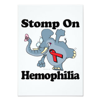 Elephant Stomp On Hemophilia 5x7 Paper Invitation Card
