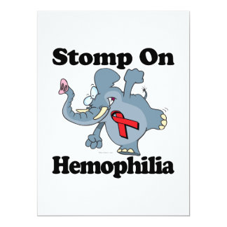 Elephant Stomp On Hemophilia 6.5x8.75 Paper Invitation Card