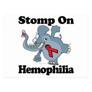 Elephant Stomp On Hemophilia Postcard