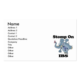 Elephant Stomp On IBS Double-Sided Standard Business Cards (Pack Of 100)