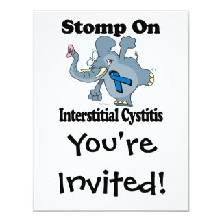 Elephant Stomp On Interstitial Cystitis Card