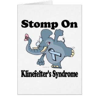 Elephant Stomp On Klinefelters Syndrome Card