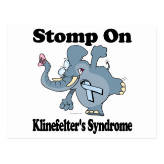 Elephant Stomp On Klinefelters Syndrome Postcard