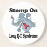 Elephant Stomp On Long Q-T Syndrome Beverage Coasters