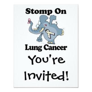 Elephant Stomp On Lung Cancer Card
