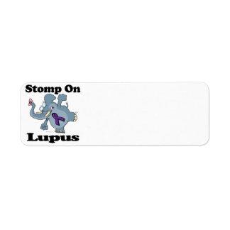 Elephant Stomp On Lupus (purple) Return Address Label
