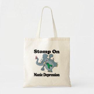 Elephant Stomp On Manic Depression Budget Tote Bag