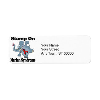 Elephant Stomp On Marfan Syndrome Label