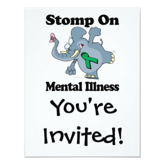 Elephant Stomp On Mental Illness (green) Card